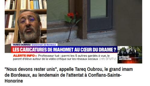 Conflans: le grand imam de Bordeaux appelle à